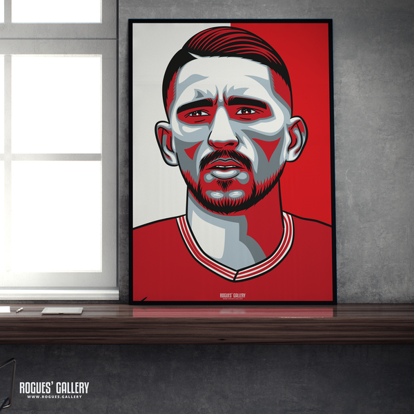 Anthony Knockaert midfielder Nottingham Forest FC The City Ground NFFC A1 print
