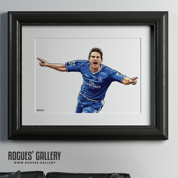 Frank Lampard Chelsea Stamford Bridge midfielder Manager A1 print