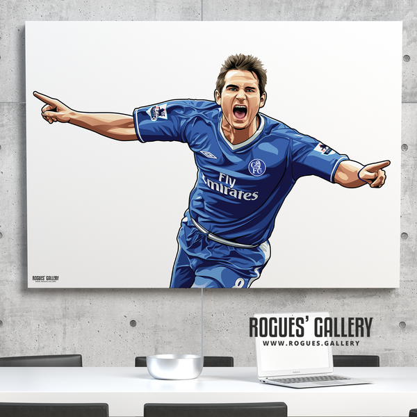 Frank Lampard Chelsea Stamford Bridge midfielder Manager A0 print