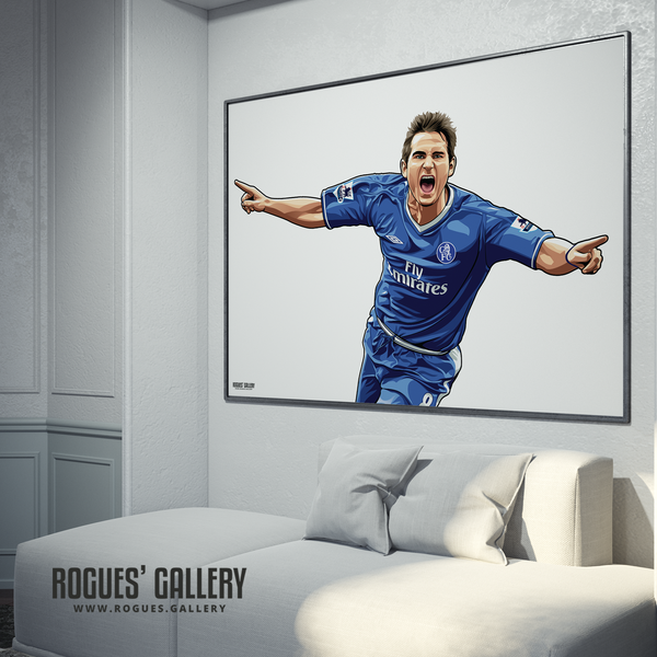 Frank Lampard Chelsea Stamford Bridge midfielder Manager great poster gift