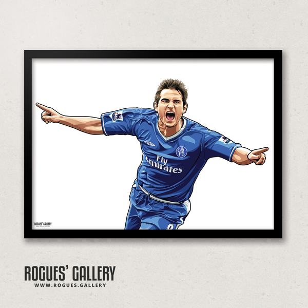 Frank Lampard Chelsea Stamford Bridge midfielder Manager A3 print