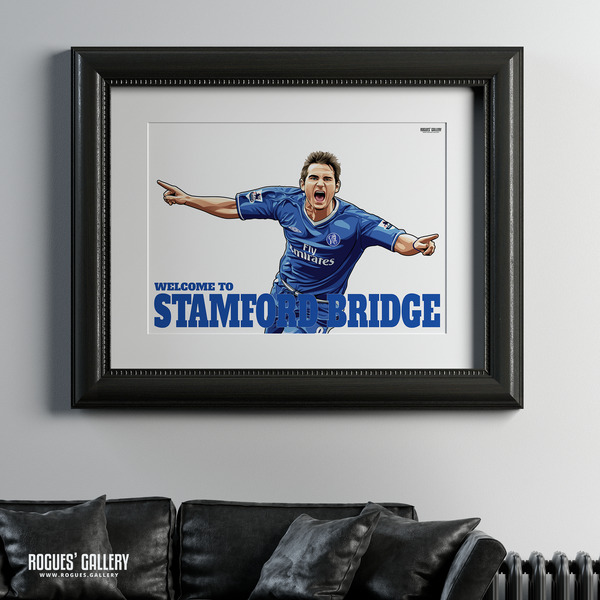 Frank Lampard Chelsea Welcome To Stamford Bridge midfielder Manager A1 print