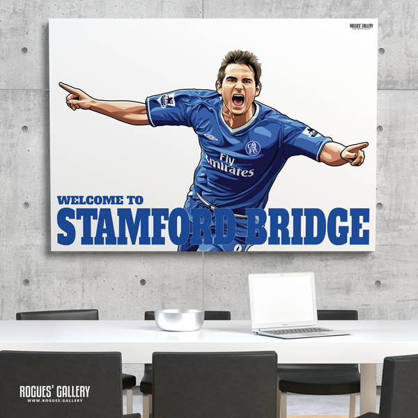 Frank Lampard Chelsea Welcome To Stamford Bridge midfielder Manager A0 print