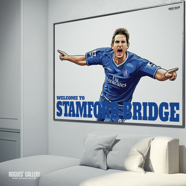 Frank Lampard Chelsea Welcome To Stamford Bridge midfielder Manager limited edition poster