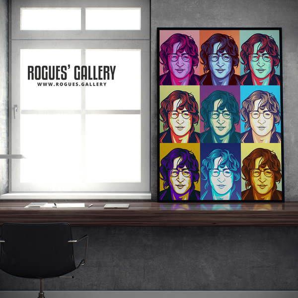 John Lennon Solo Imagine glasses modern pop art retro design A1 huge print poster