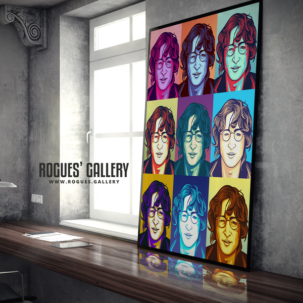 John Lennon Solo Imagine glasses modern pop art retro design A0 huge print poster