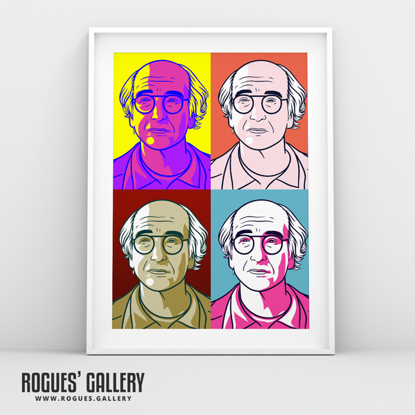 Larry David Curb Your Enthusiasm Stare A3 Bright Pop Art print