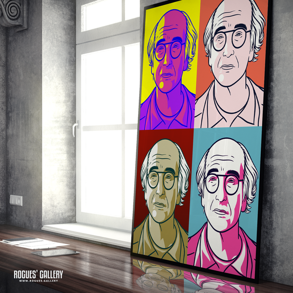 Larry David Curb Your Enthusiasm Stare A0 Bright Pop Art print