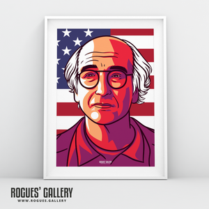 Larry David Curb Your Enthusiasm Stare A3 Art print