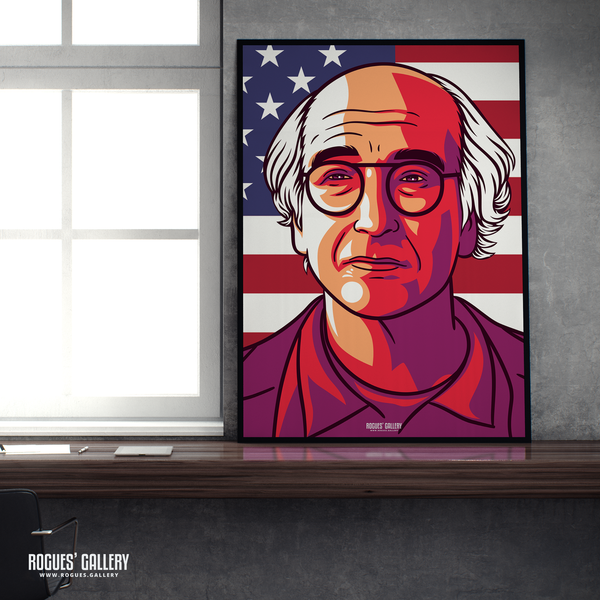 Larry David Curb Your Enthusiasm Stare A1 Art print