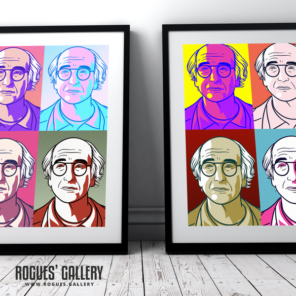 Larry David Curb Your Enthusiasm Stare Pop Art designs great Warhol