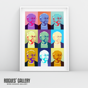 Larry David Curb Your Enthusiasm A3 pop Art print