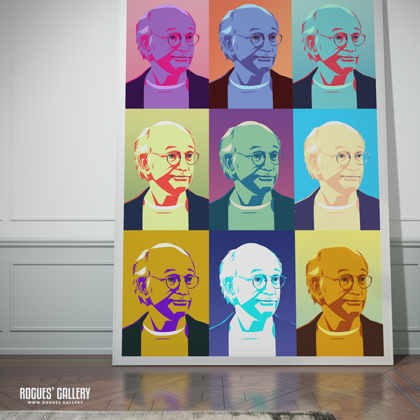 Larry David Curb Your Enthusiasm huge poster A0 pop Art print