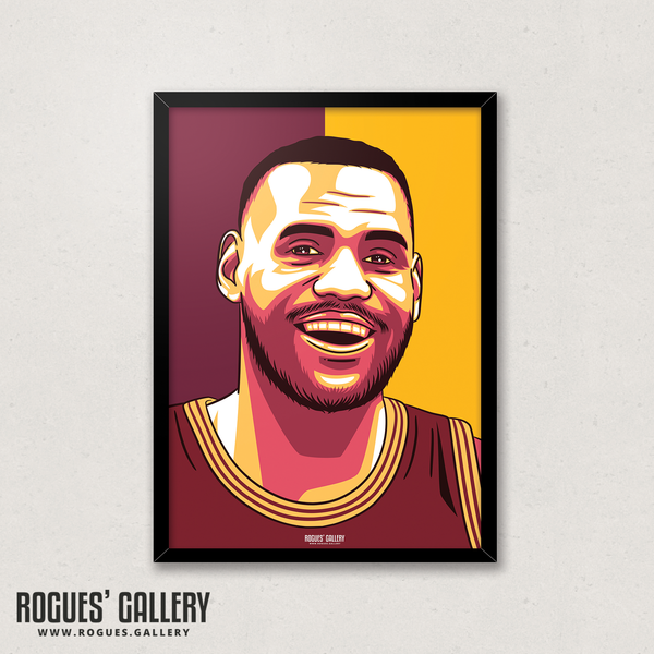 LeBron James - Los Angeles Lakers & Cleveland Cavaliers - A3 Icon Prints