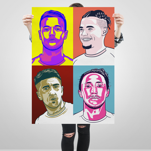 Leeds United Pop Art big print Hernandez Ayling Phillips Cooper edit