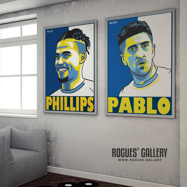 Kalvin Phillips and Pablo Hernandez A1 huge prints