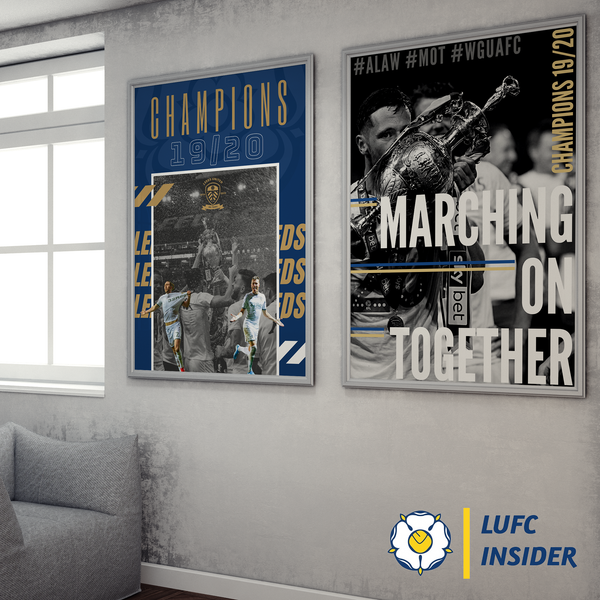 Leeds United LUFC Insider A3 A1 art prints two on wall