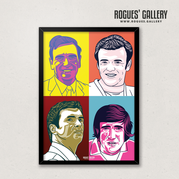 Leeds United legends Pop Art big A1 Don Revie Billy Bremner Gary Speed Norman Hunter