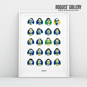 Leeds United 2019-2020 Squad Elland Road art design
