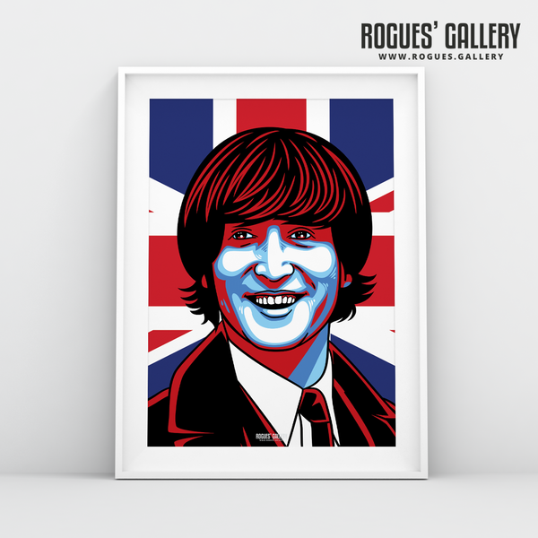 John Lennon The Beatles A3 art print union jack Liverpool younger mop top