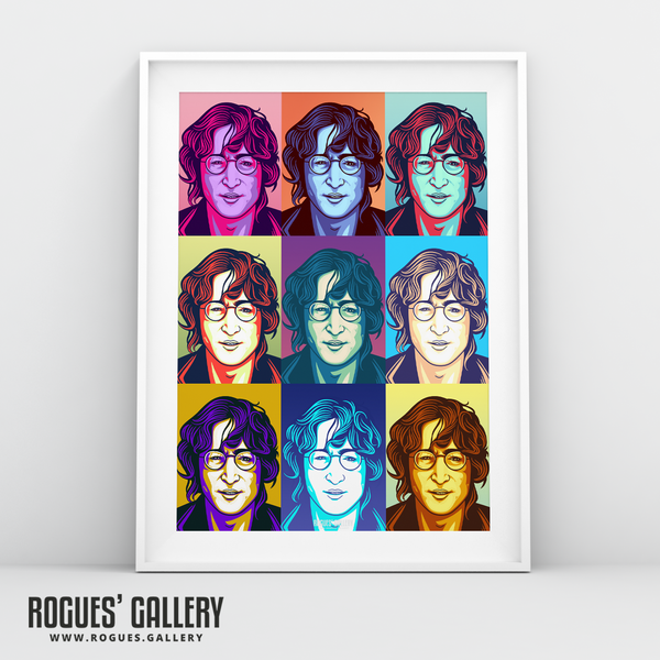 John Lennon Solo Imagine glasses modern pop art retro design A3 art print poster