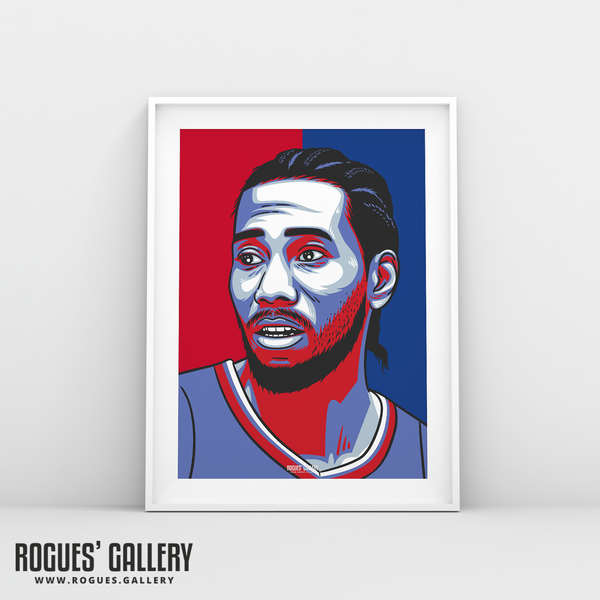 Kawhi Leonard Los Angeles Clippers basketball A3 Print edit NBA star