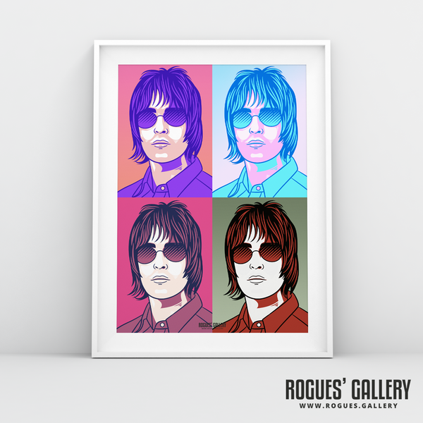 Liam Gallagher Oasis pop art print rock poster edit A3