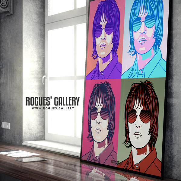 Liam Gallagher Oasis pop art print rock poster edit A0 massive poster