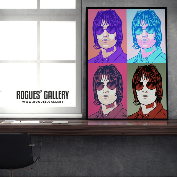 Liam Gallagher Oasis pop art print rock poster edit A1 edit design twitter