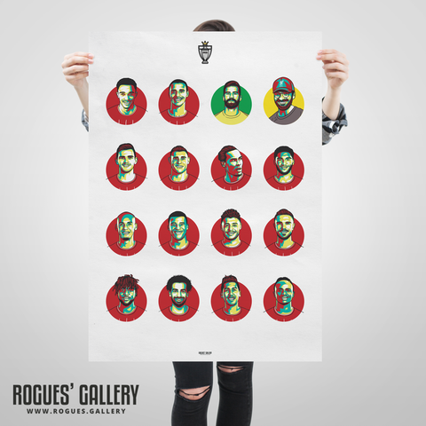 Liverpool FC Squad 2019-20 Premier League Title winning A1 print #GetBehindTheLads Souvenir limited edition
