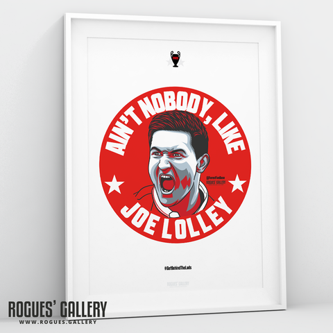Joe Lolley Ain't Nobody Get Behind The Lads A3 Print Nottingham Forest NFFC winger