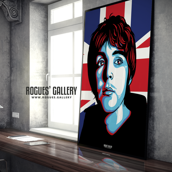 Paul McCartney The Beatles A1 huge large poster union jack