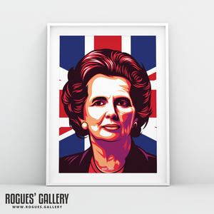 Margaret Thatcher UK PM Woman first edit A3 art print