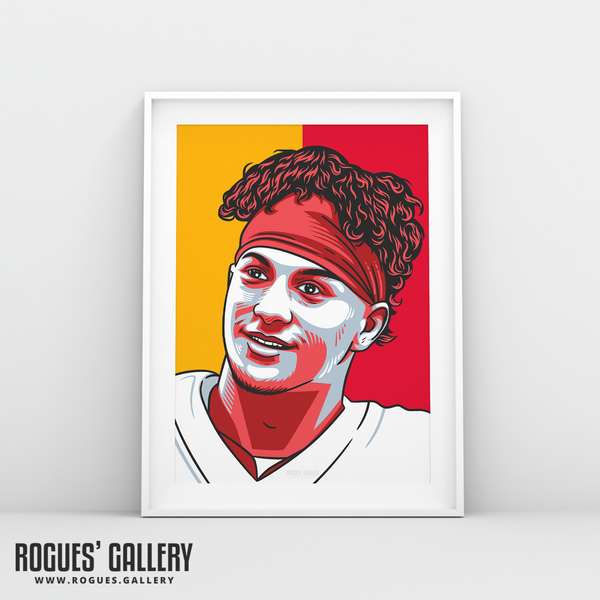 Patrick Mahomes Kansas City Chiefs quarterback A3 Print edit