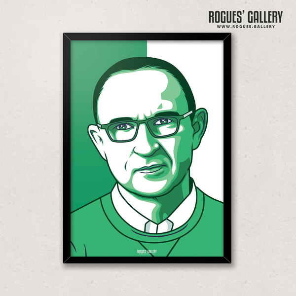 Martin O'Neill Republic of Ireland Eire Manager A3 print art