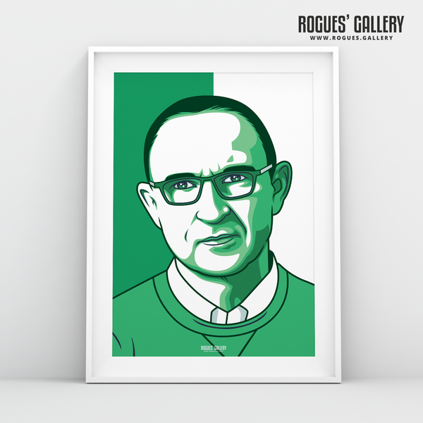 Martin O'Neill Republic of Ireland Manager A3 print edit