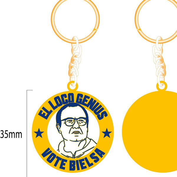 Bielsa Leeds United manager key ring get behind the lads rogues gallery