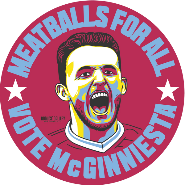 John McGinn Aston Villa Vote sticker #GetBehindTheLads
