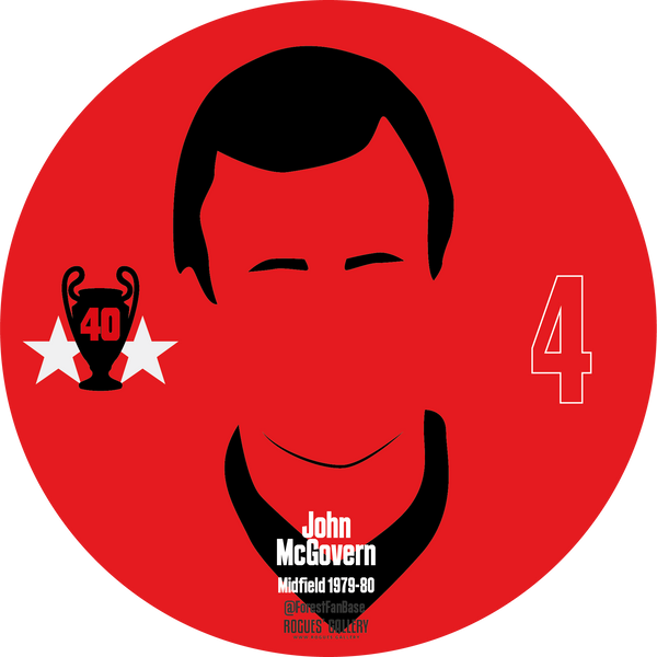 John McGovern midfield Nottingham Forest Miracle Men stickers City Ground European Cup 1979 1980
