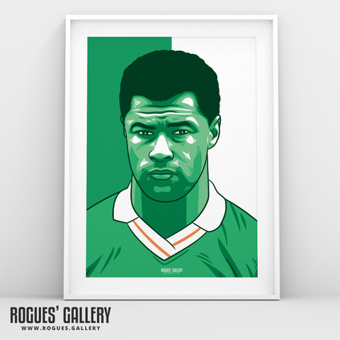 Paul McGrath Republic of Ireland captain defender A3 print edit no badge