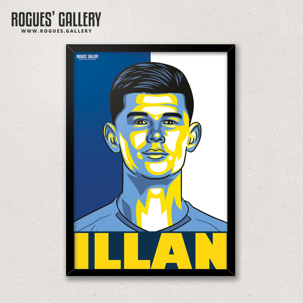 Illan Meslier Leeds United LUFC goalkeeper A3 art print edit Elland Road