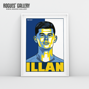 Illan Meslier Leeds United FC goalkeeper A3 art print design