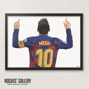 Lionel Messi Barcelona Barca Argentina Barcelona legend greatest A3 art print superb great brilliant best 10