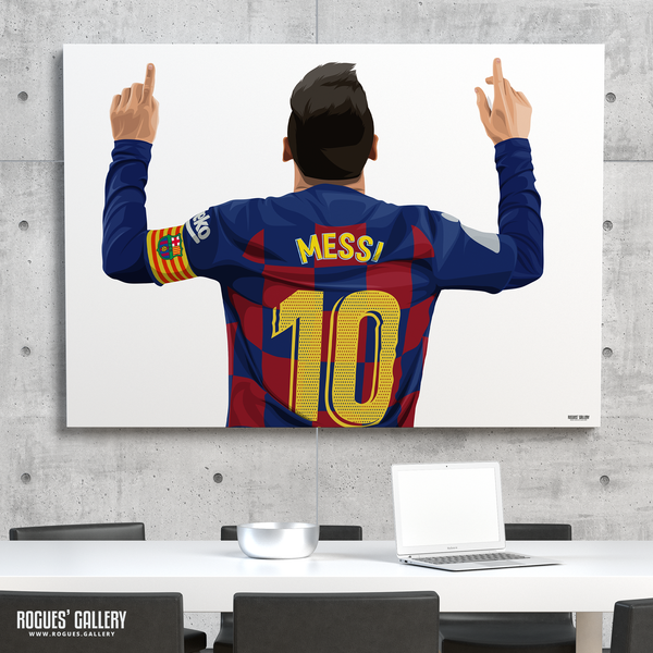 Lionel Messi Barcelona Barca Argentina Barcelona legend greatest A0 art print superb great brilliant best number 10