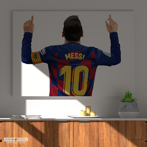 Lionel Messi Barcelona FC 10 Barca Argentina Barcelona legend greatest A3 art print superb great brilliant best poster