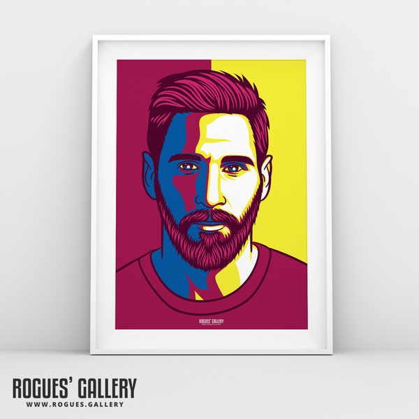 Lionel Messi Barcelona FC Icon Barca Argentina Barcelona legend greatest A3 art print superb great brilliant best A3 art print