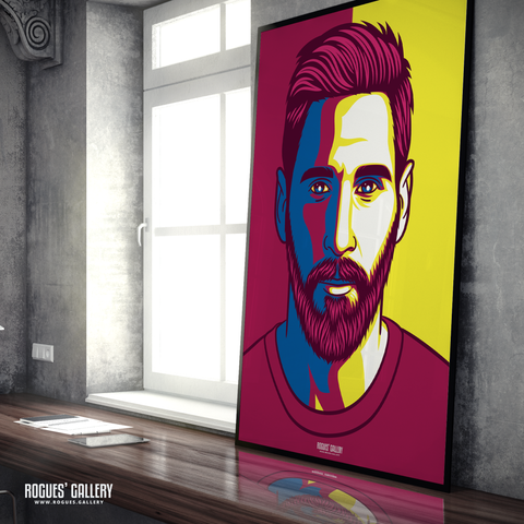 Lionel Messi Barcelona FC Icon Barca Argentina Barcelona legend greatest A3 art print superb great brilliant best A0 art print poster
