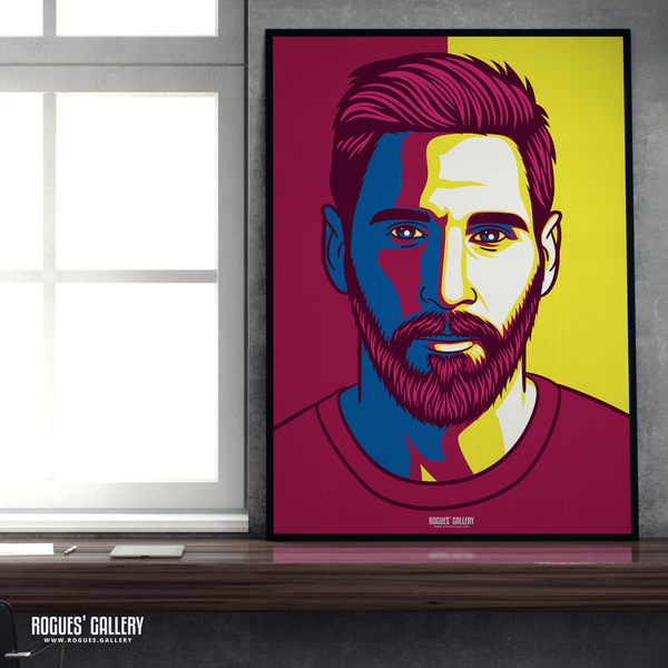 Lionel Messi Barcelona FC Icon Barca Argentina Barcelona legend greatest A3 art print superb great brilliant best A1 art print
