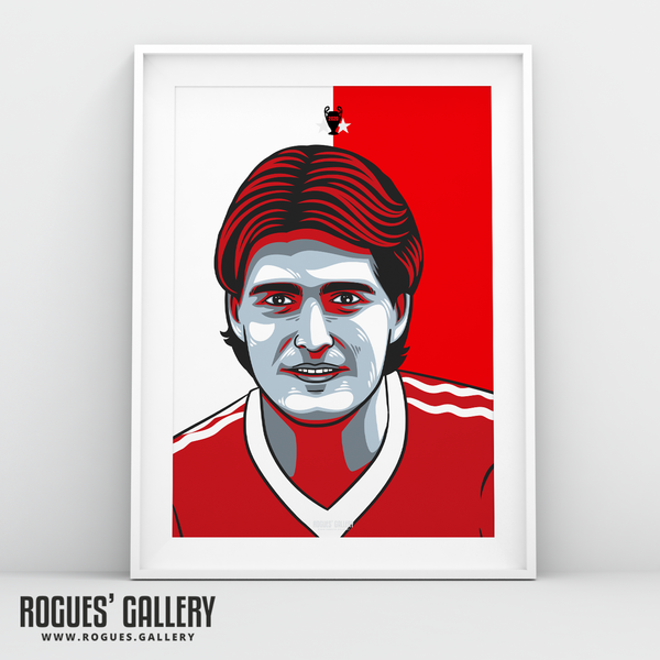 Gary Mills Nottingham Forest midfielder A3 print edit design