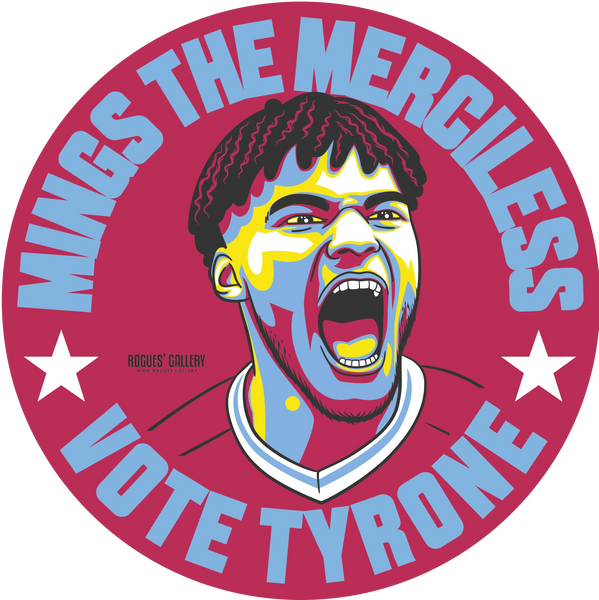 Tyrone Mings Aston Villa Vote sticker #GetBehindTheLads